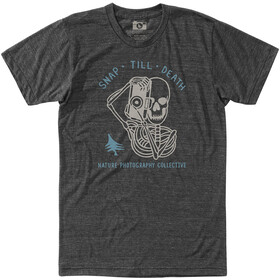 Hippy Tree Morti Camiseta Hombre, heather charcoal